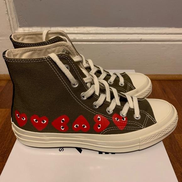 b4275bbbc0dda3 Comme des Garcons Shoes - Comme de garçon Multi Heart Converse Play